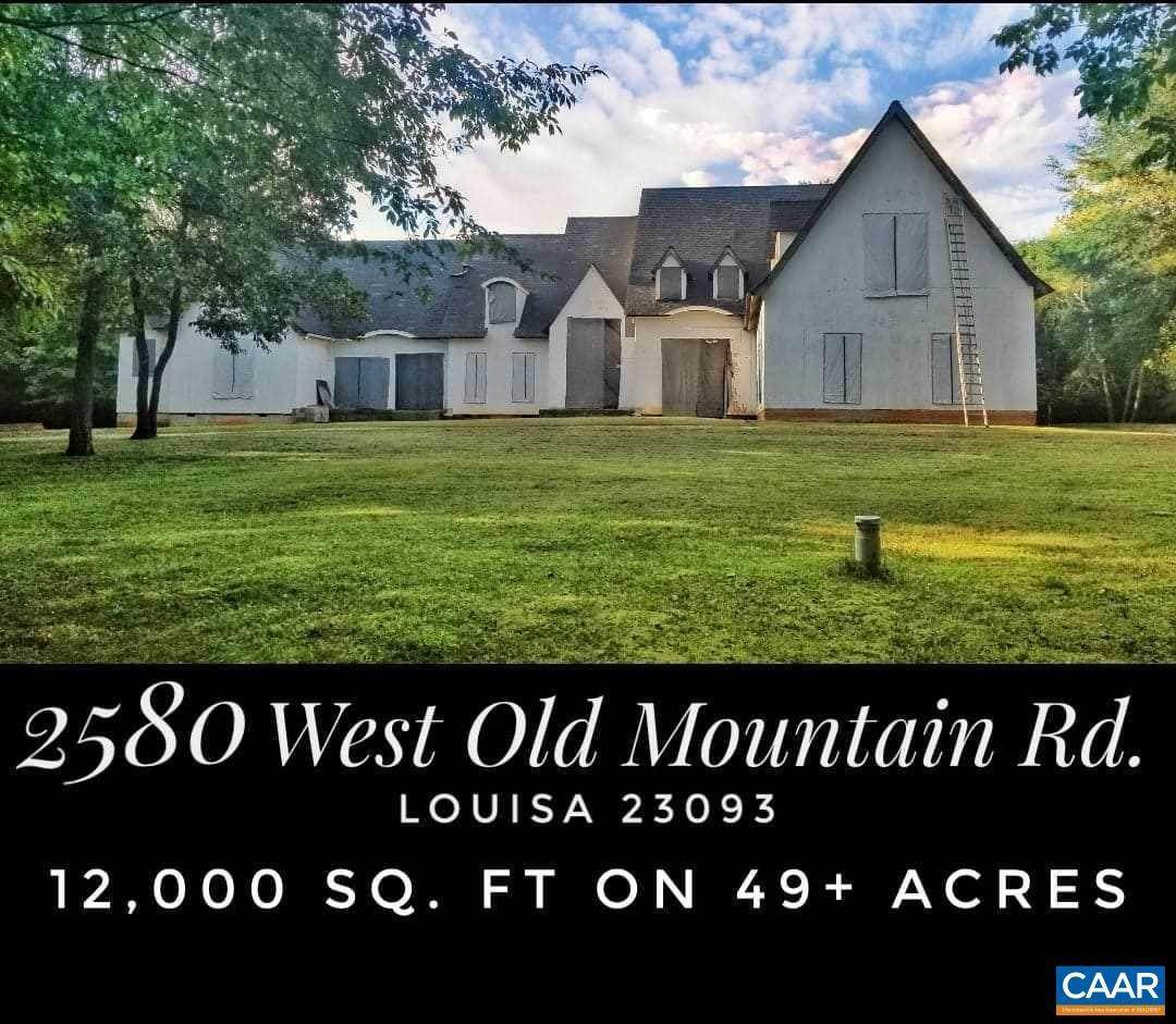 Single Family Homes for Sale at 2580 W OLD MOUNTAIN Road Louisa, Virginia 23093 United States