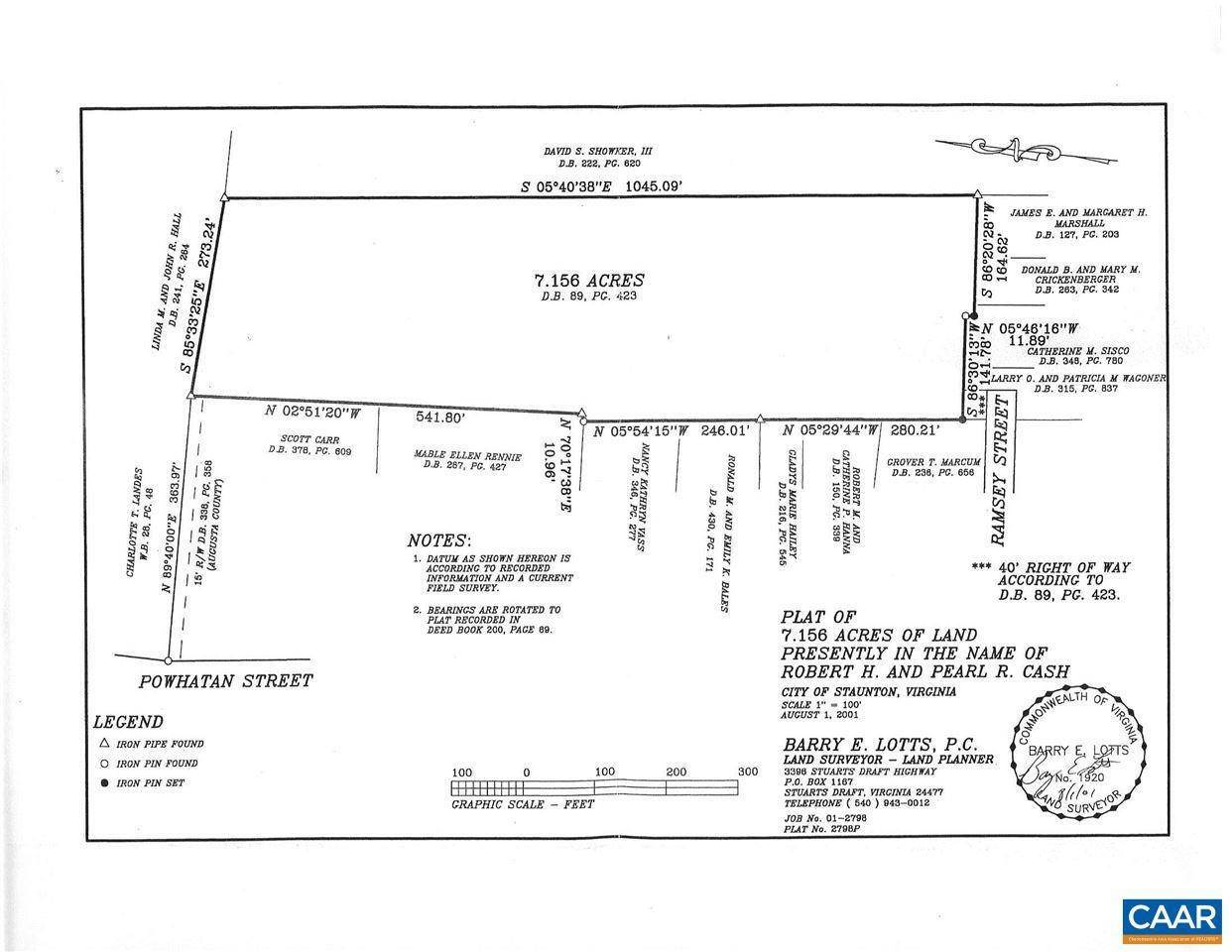 Land for Sale at 413 RAMSEY Street Staunton, Virginia 24401 United States